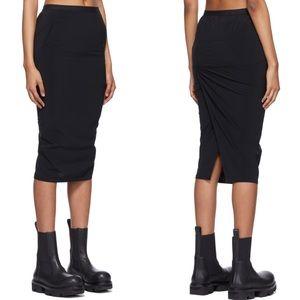 Rick Owens Black Pillar Short Skirt